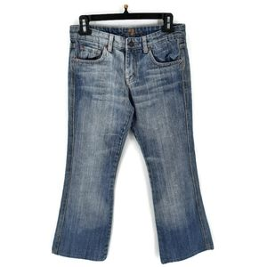 7FAM midrise A pocket cropped jeans